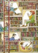 libreria fantas con personaggi
