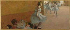 Degas, Ballerine che salgono una scala