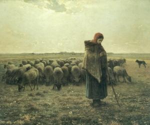 Millet, Pastorella con il suo gregge