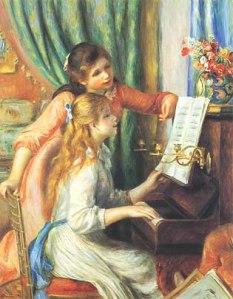 Renoir, Ragazze al piano